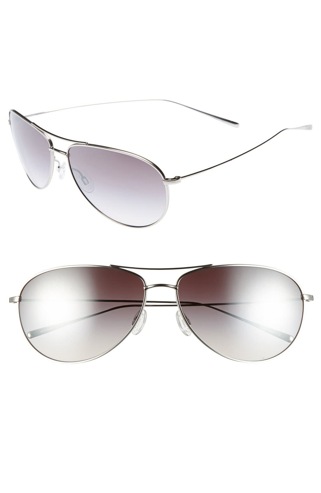 Alternate Image 1 Selected - Oliver Peoples 'Tavern' 61mm Aviator Sunglasses