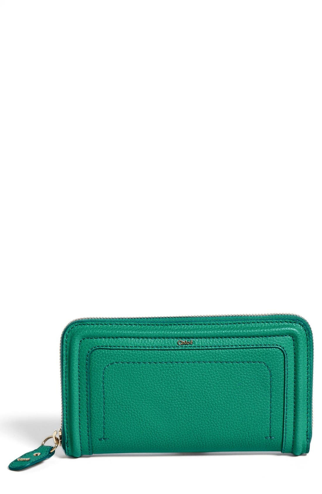 Alternate Image 1 Selected - Chloé 'Paraty' Zip Around Calfskin Leather Wallet