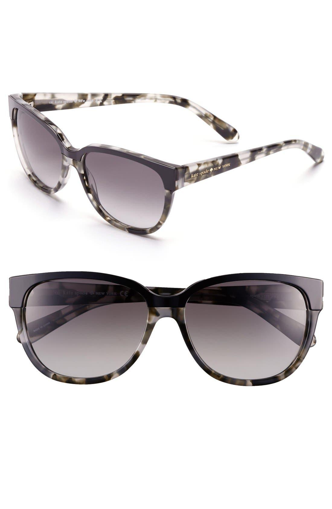 Alternate Image 1 Selected - kate spade new york 55mm retro sunglasses