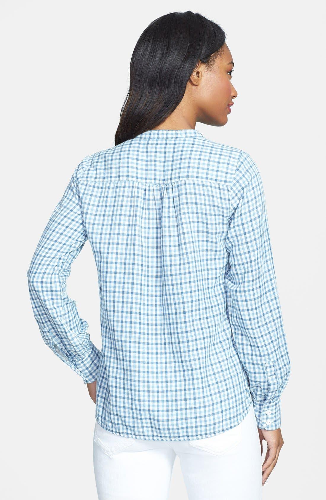 Alternate Image 2  - Lucky Brand Gingham Plaid Popover Shirt