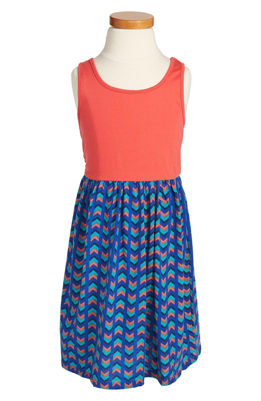 Main Image - Roxy 'Pink Horizon' Bow Back Tank Dress (Little Girls)