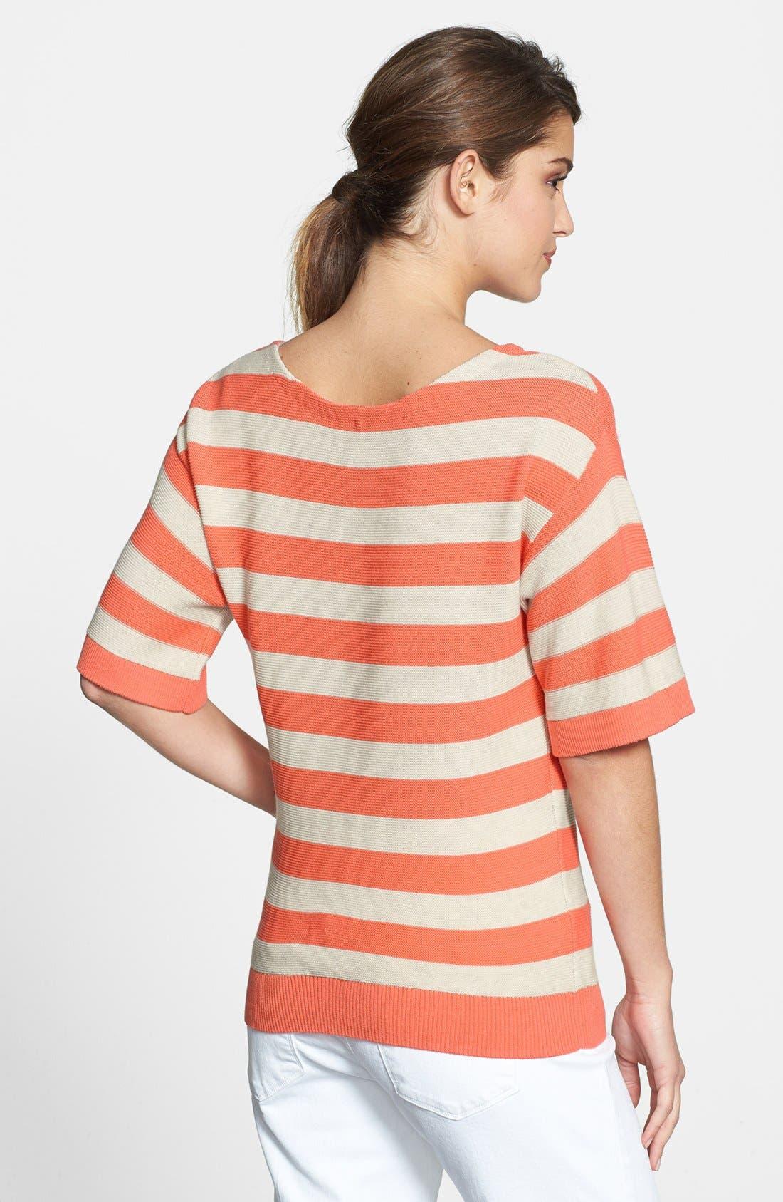 Alternate Image 2  - Halogen® Stripe Boatneck Sweater