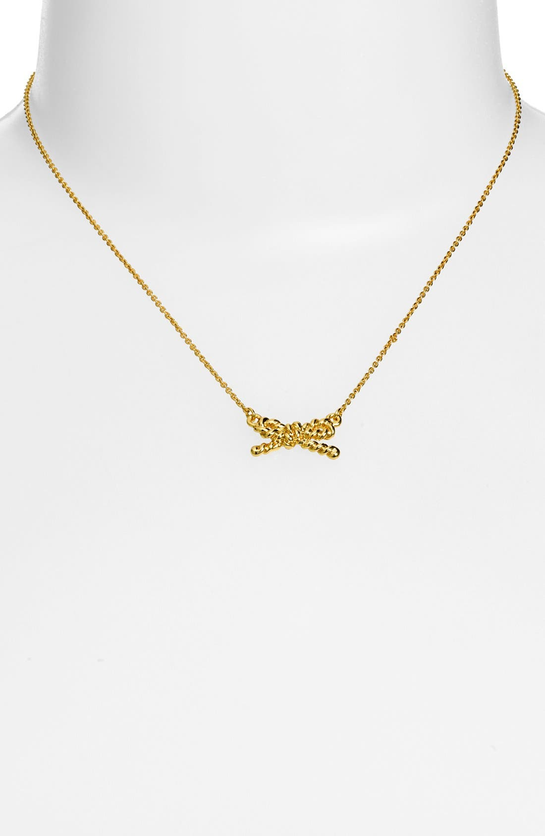Alternate Image 2  - kate spade new york 'skinny mini' rope bow pendant necklace