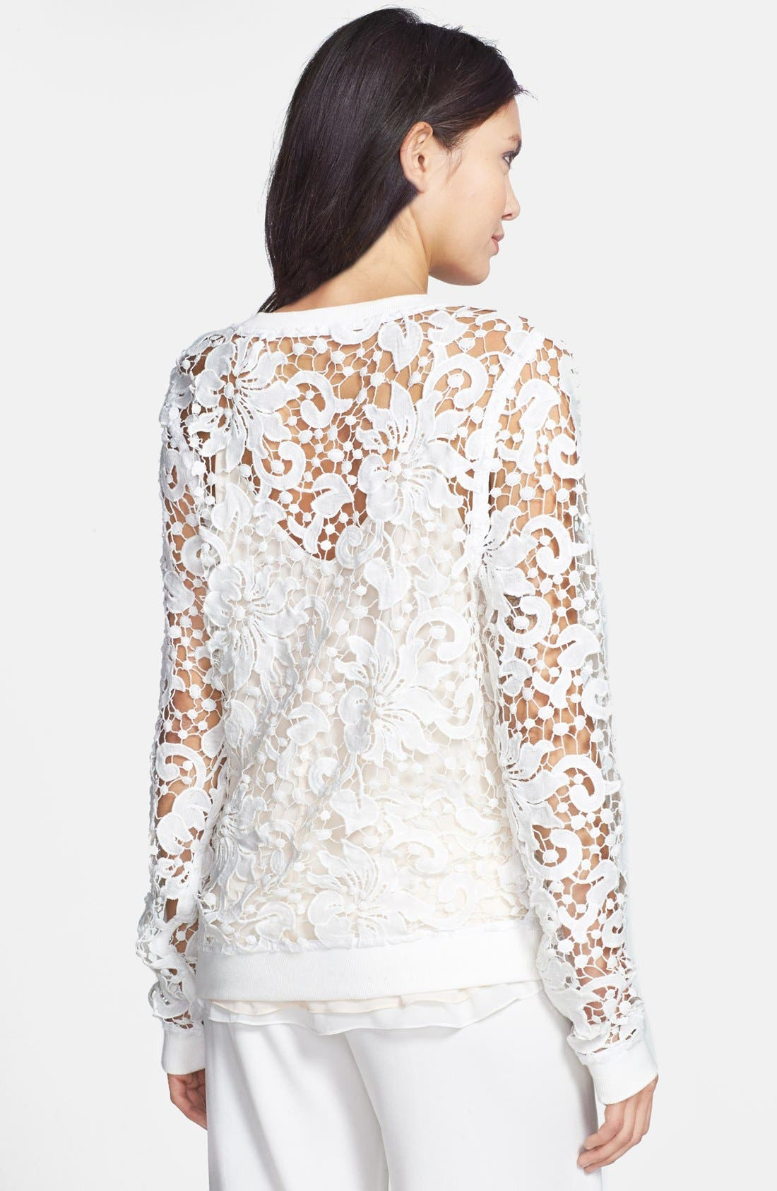 Alternate Image 2  - Chelsea28 Embroidered Lace Pullover