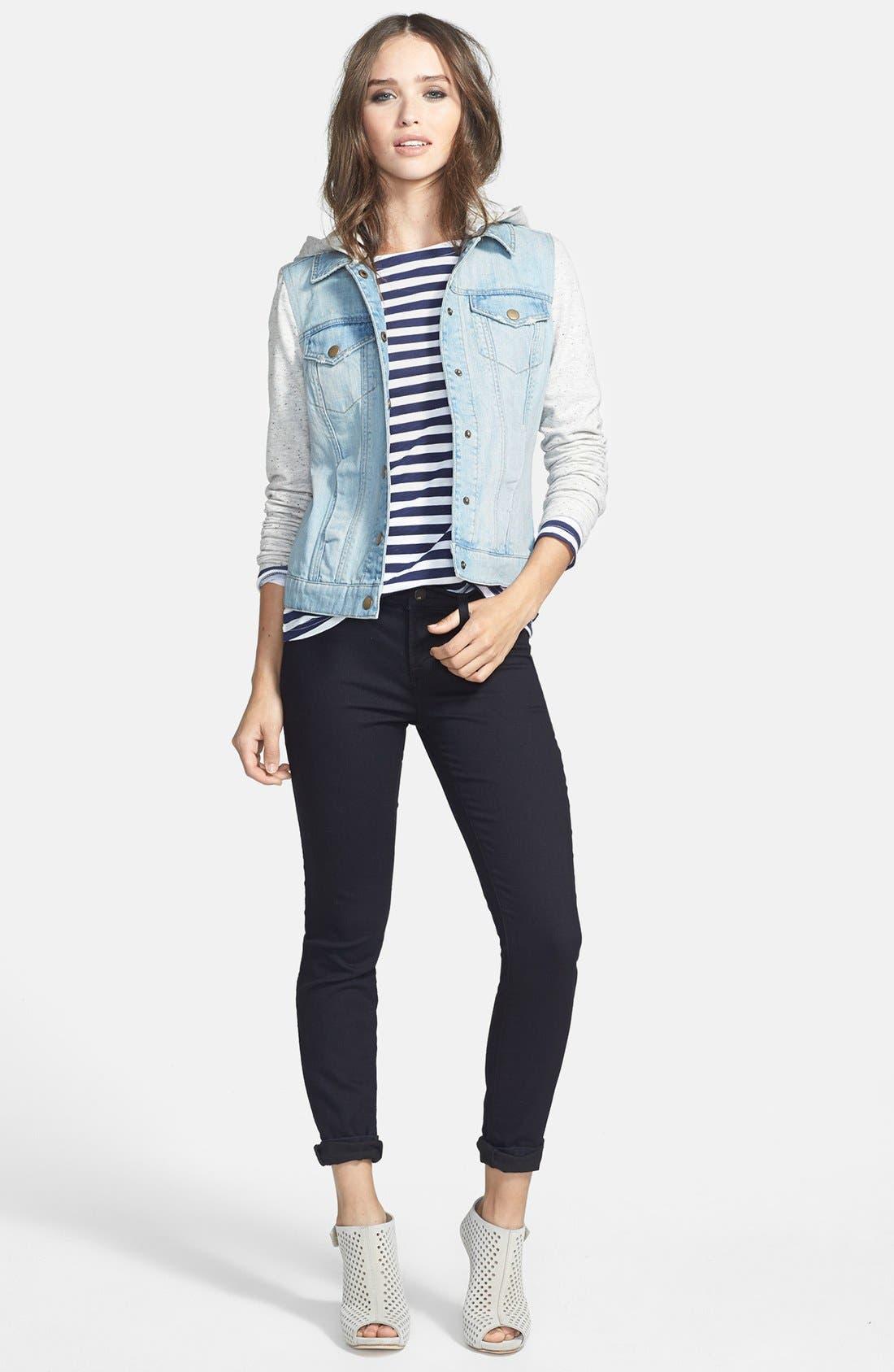 Alternate Image 4  - J Brand Super Skinny Jeans (Pitch Black)