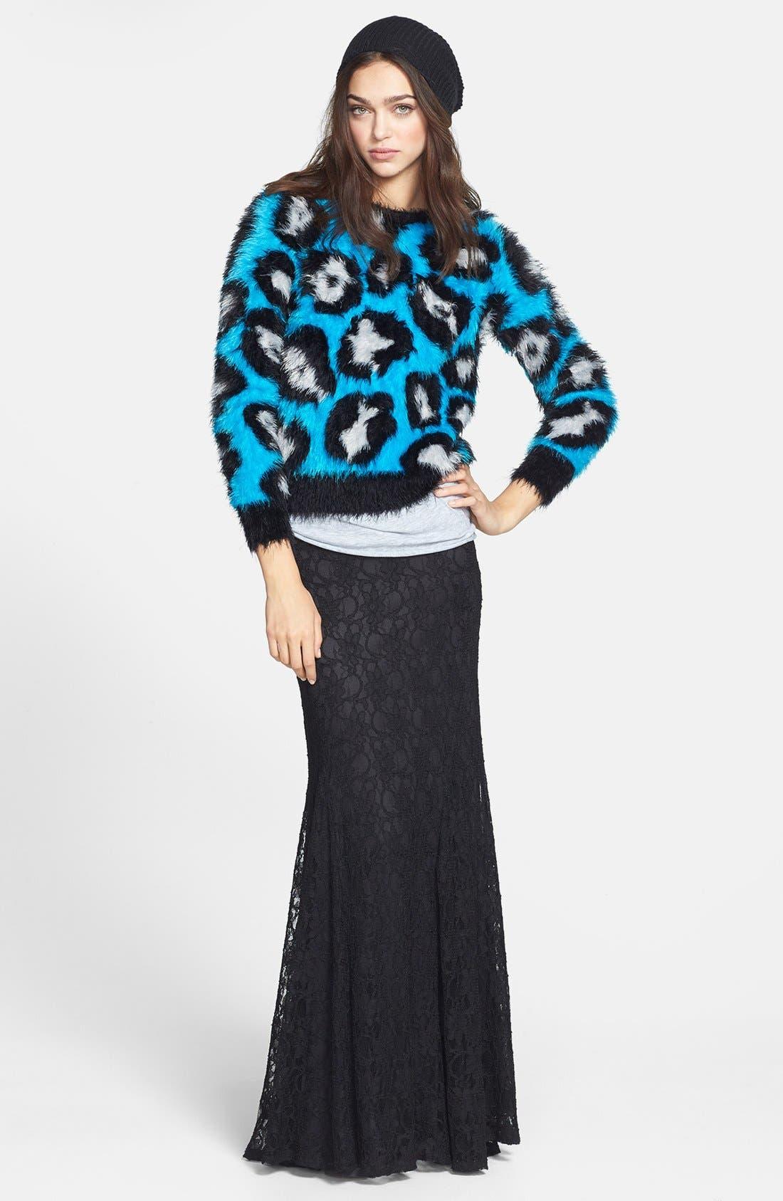 Alternate Image 5  - Raga Animal Pattern Textured Pullover
