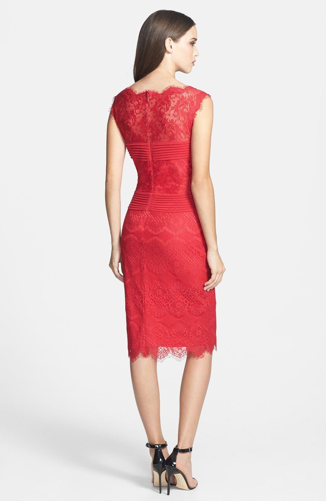 Alternate Image 2  - Tadashi Shoji Lace Sheath Dress (Regular & Petite)