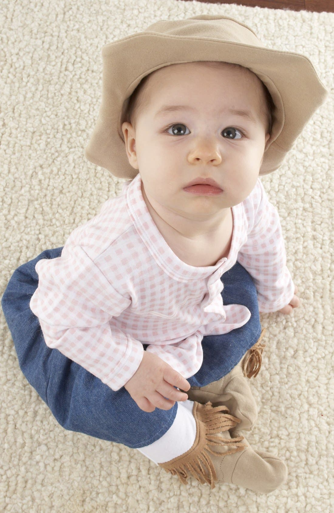 Alternate Image 1 Selected - Baby Aspen 'Big Dreamzzz - Cowgirl' One-Piece & Hat (Baby)