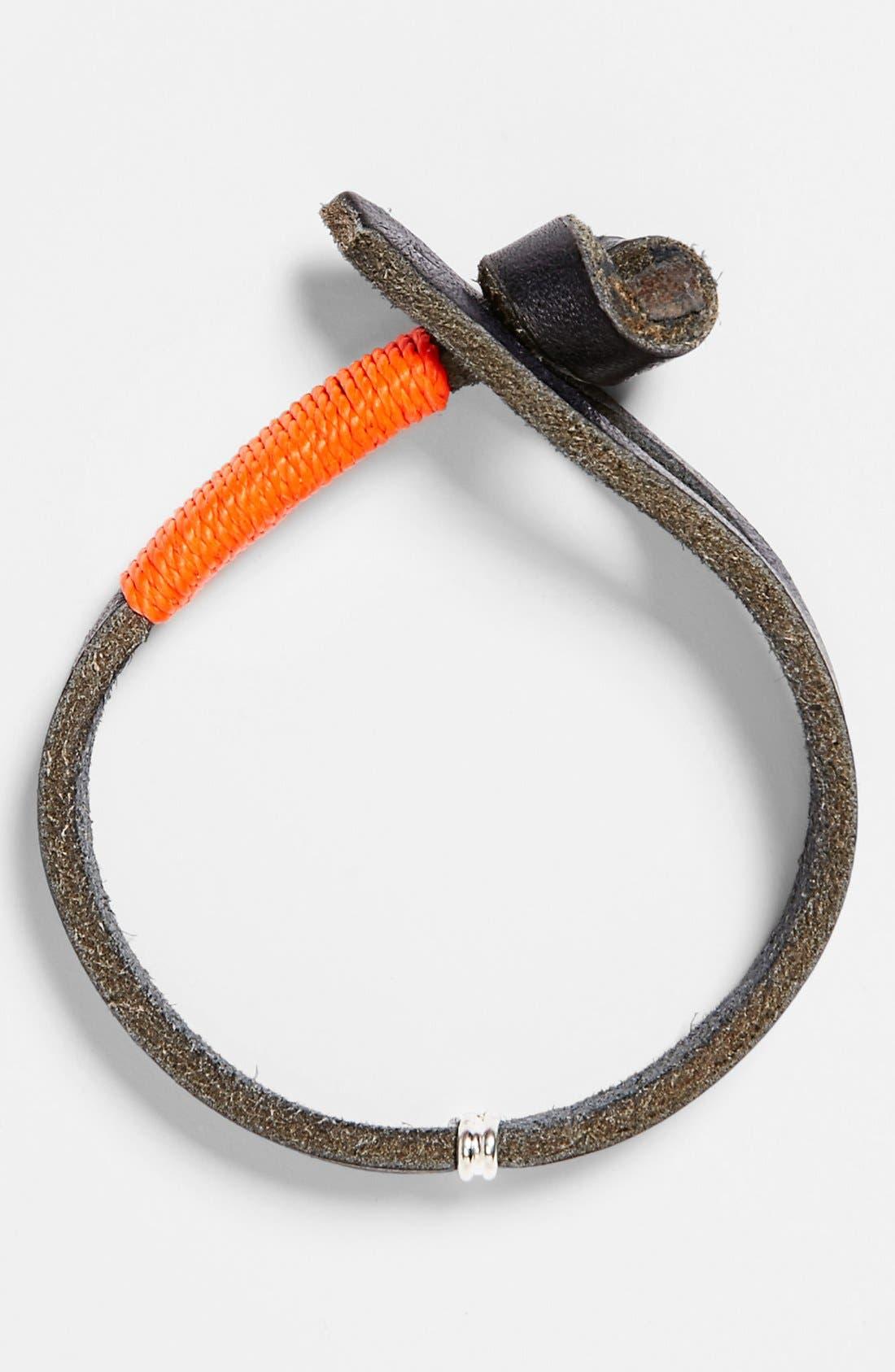Main Image - CAPUTO & CO Knot & Loop Leather Bracelet