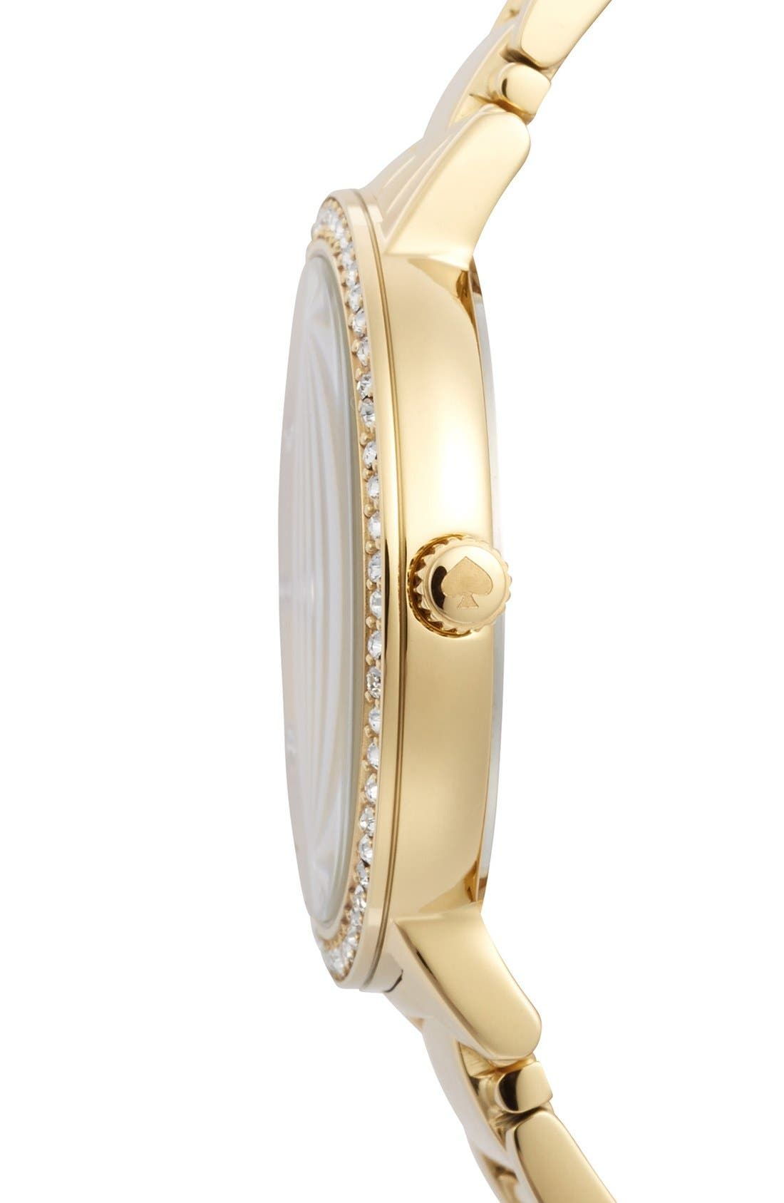 Alternate Image 3  - kate spade new york 'gramercy grand' pavé bezel bracelet watch, 38mm