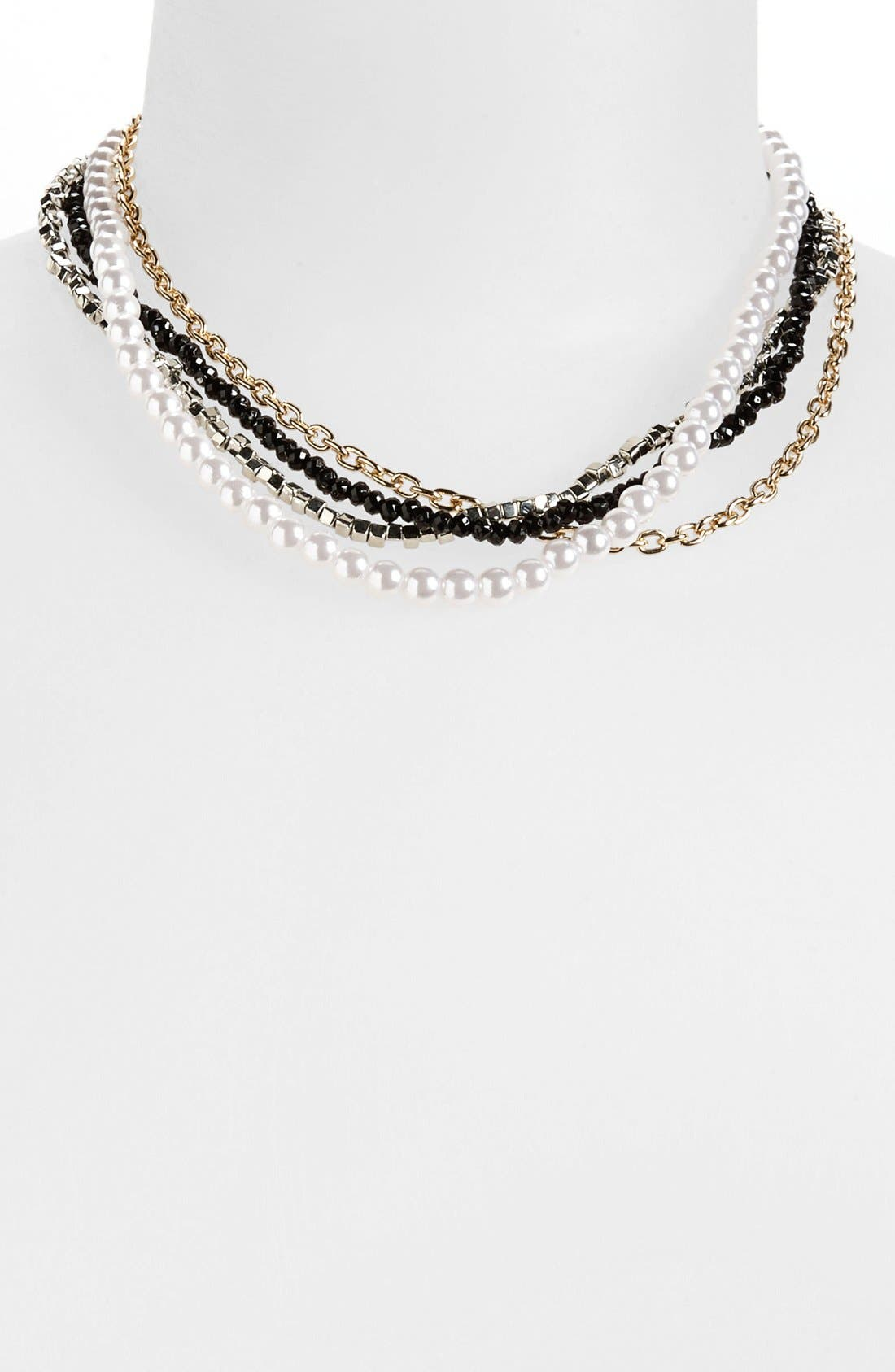 Main Image - Metal Haven by KENDALL + KYLIE Multistrand Collar Necklace (Juniors)