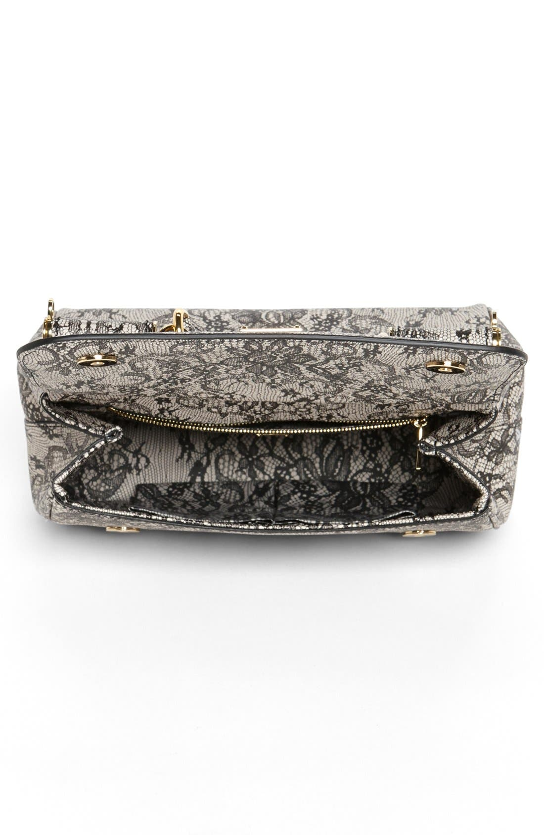 Alternate Image 3  - Dolce&Gabbana 'Miss Sicily - Printed Lace' Top Handle Leather Satchel, Small
