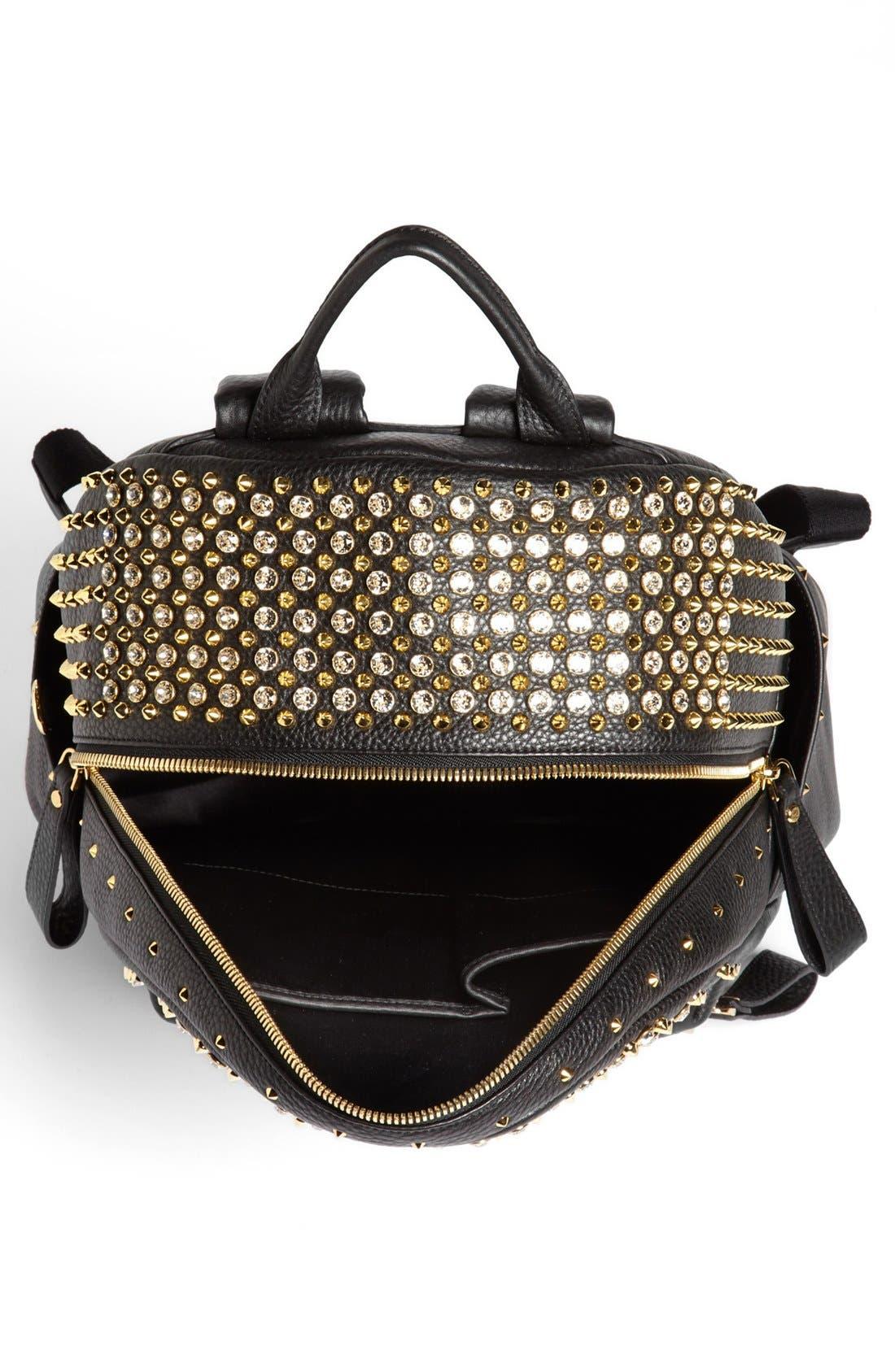 Alternate Image 3  - MCM 'Crystal Studded - Medium' Leather Backpack