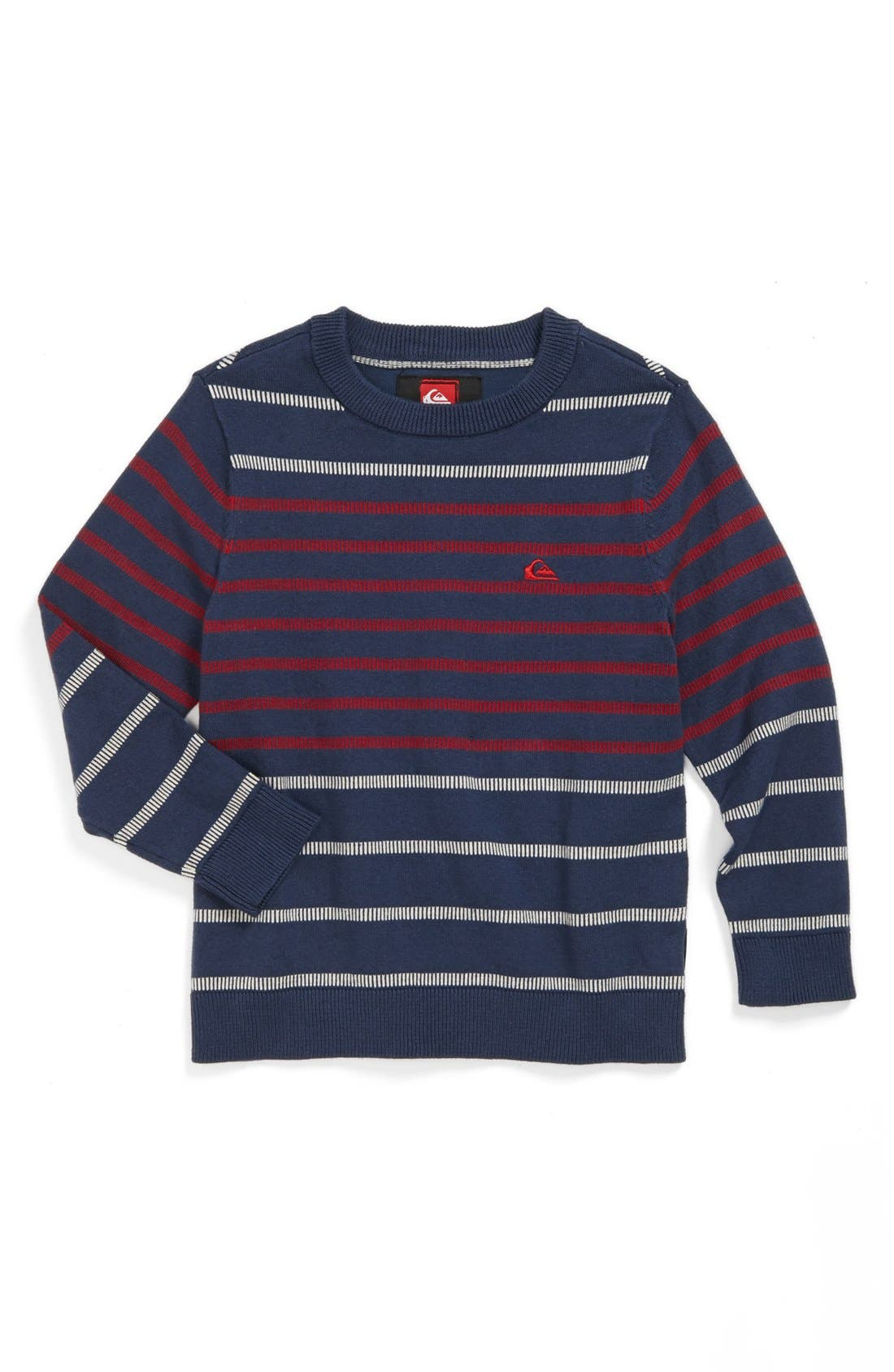 Alternate Image 1 Selected - Quiksilver 'Sweet Fears' Cotton Blend Sweater (Toddler Boys)