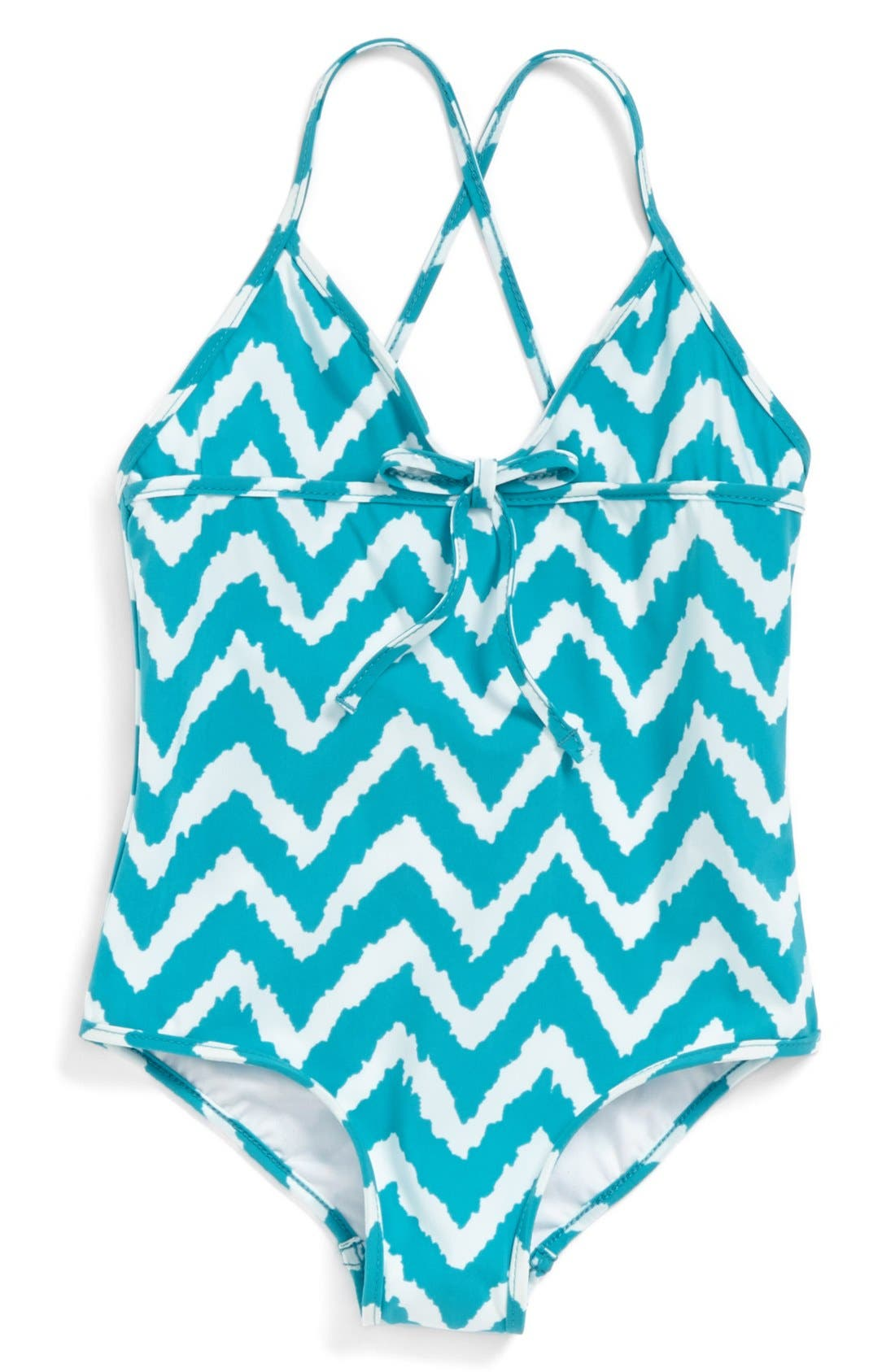 Main Image - Milly Minis Zigzag One-Piece Swimsuit (Toddler Girls, Little Girls & Big Girls)