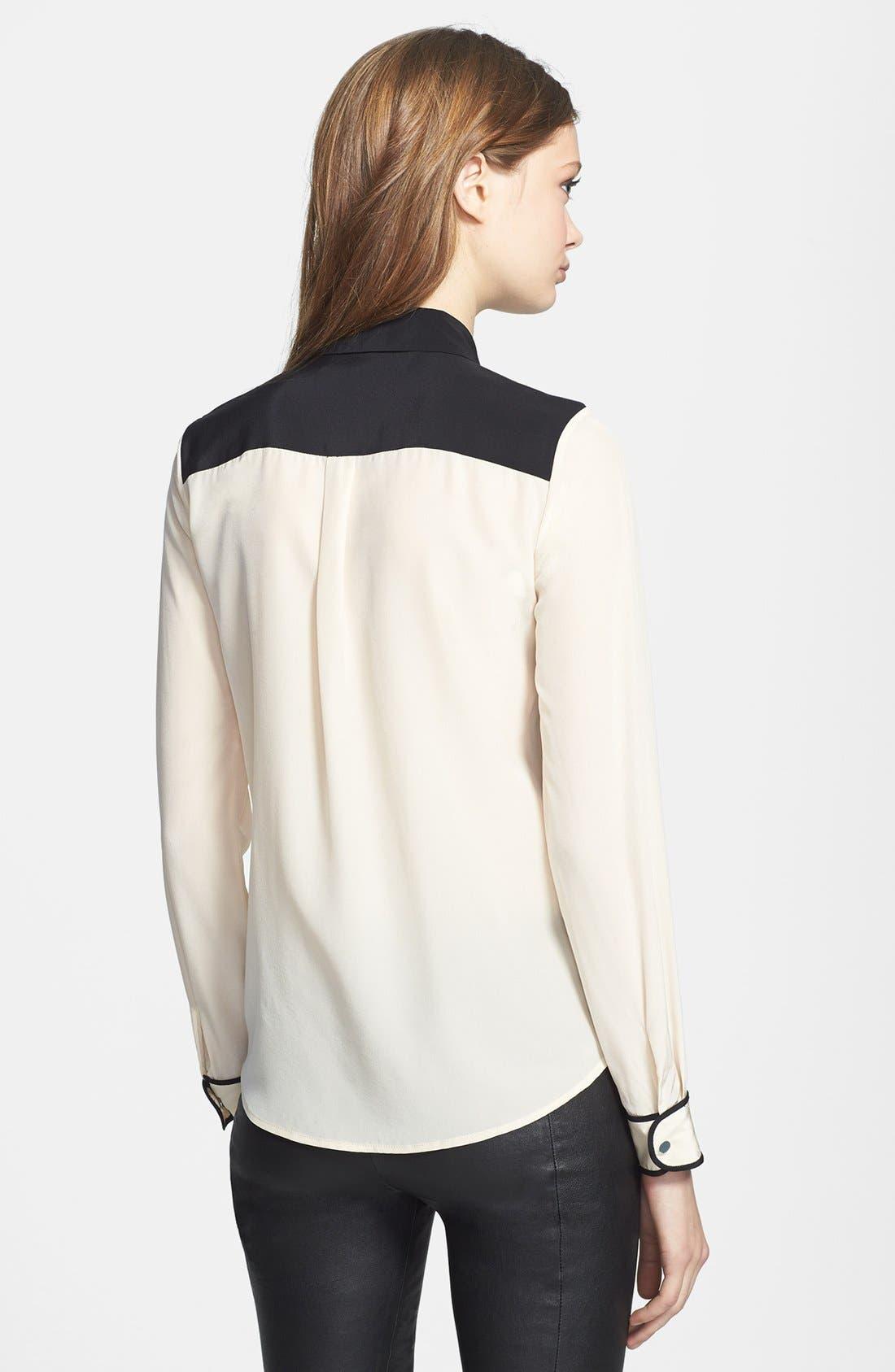 Alternate Image 2  - Diane von Furstenberg 'Marah' Colorblock Silk Blouse