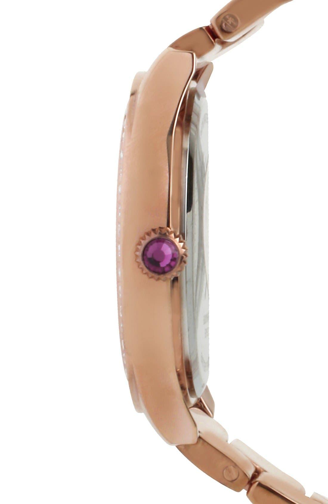 Alternate Image 3  - Betsey Johnson Round Bracelet Watch, 42mm