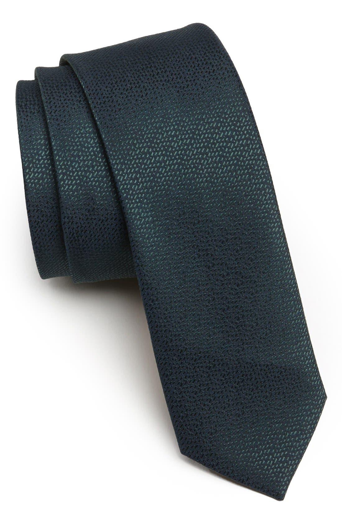 Alternate Image 1 Selected - Topman Textured Woven Tie