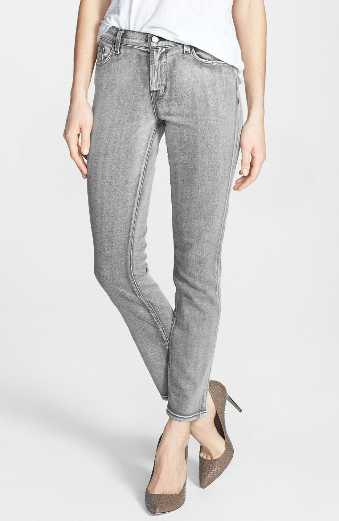 Main Image - J Brand '811' Skinny Stretch Ankle Jeans (Smoked Pearl)