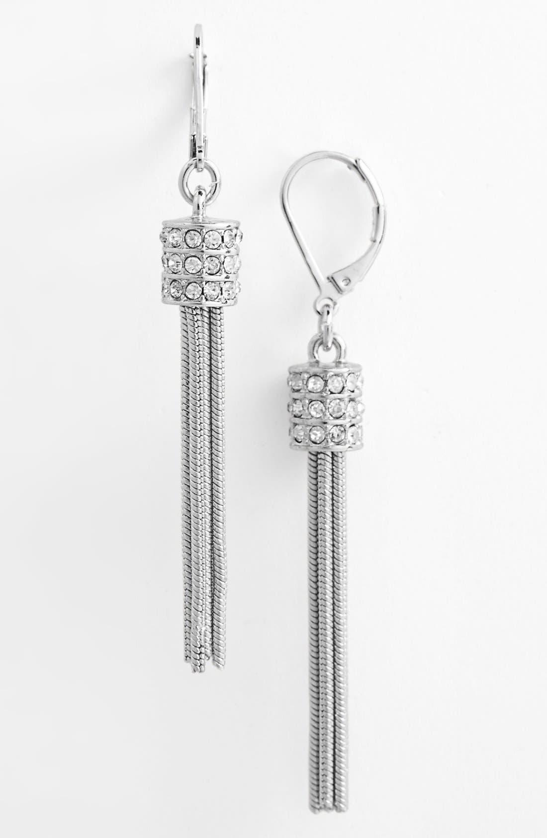 Alternate Image 1 Selected - Anne Klein Linear Tassel Drop Earrings