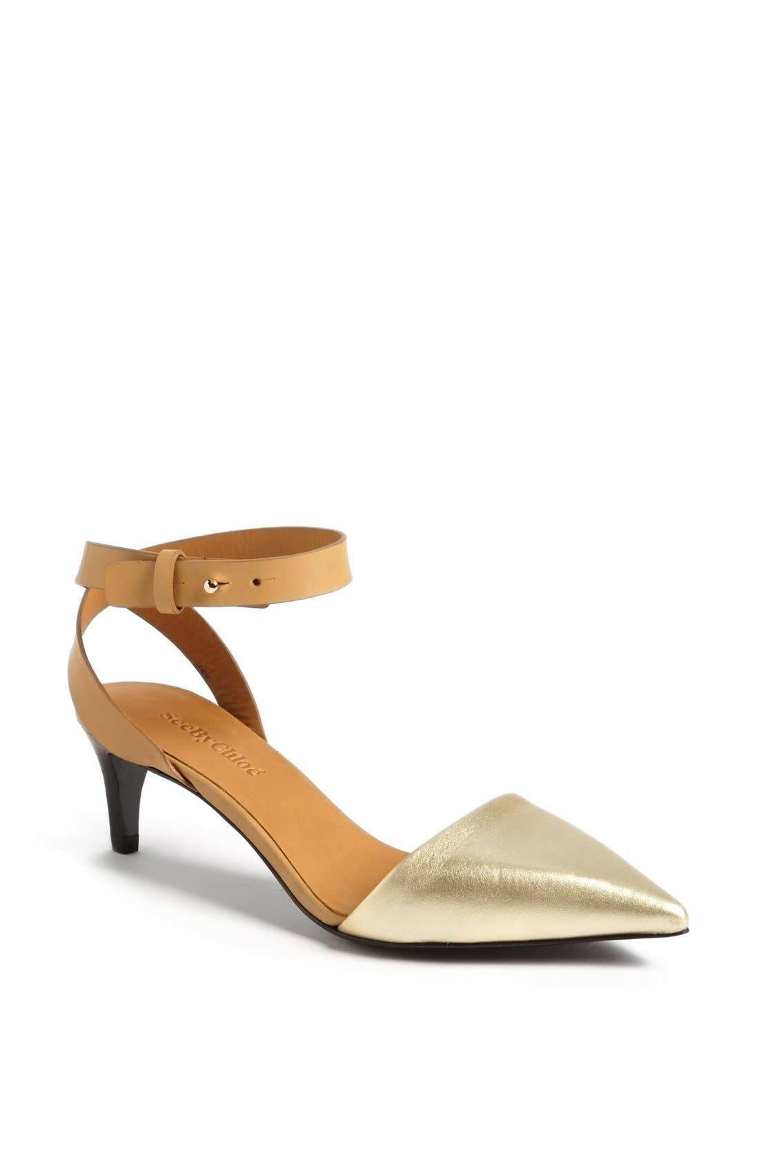 Main Image - See by Chloé 'Hera' Ankle Strap D'Orsay Pump