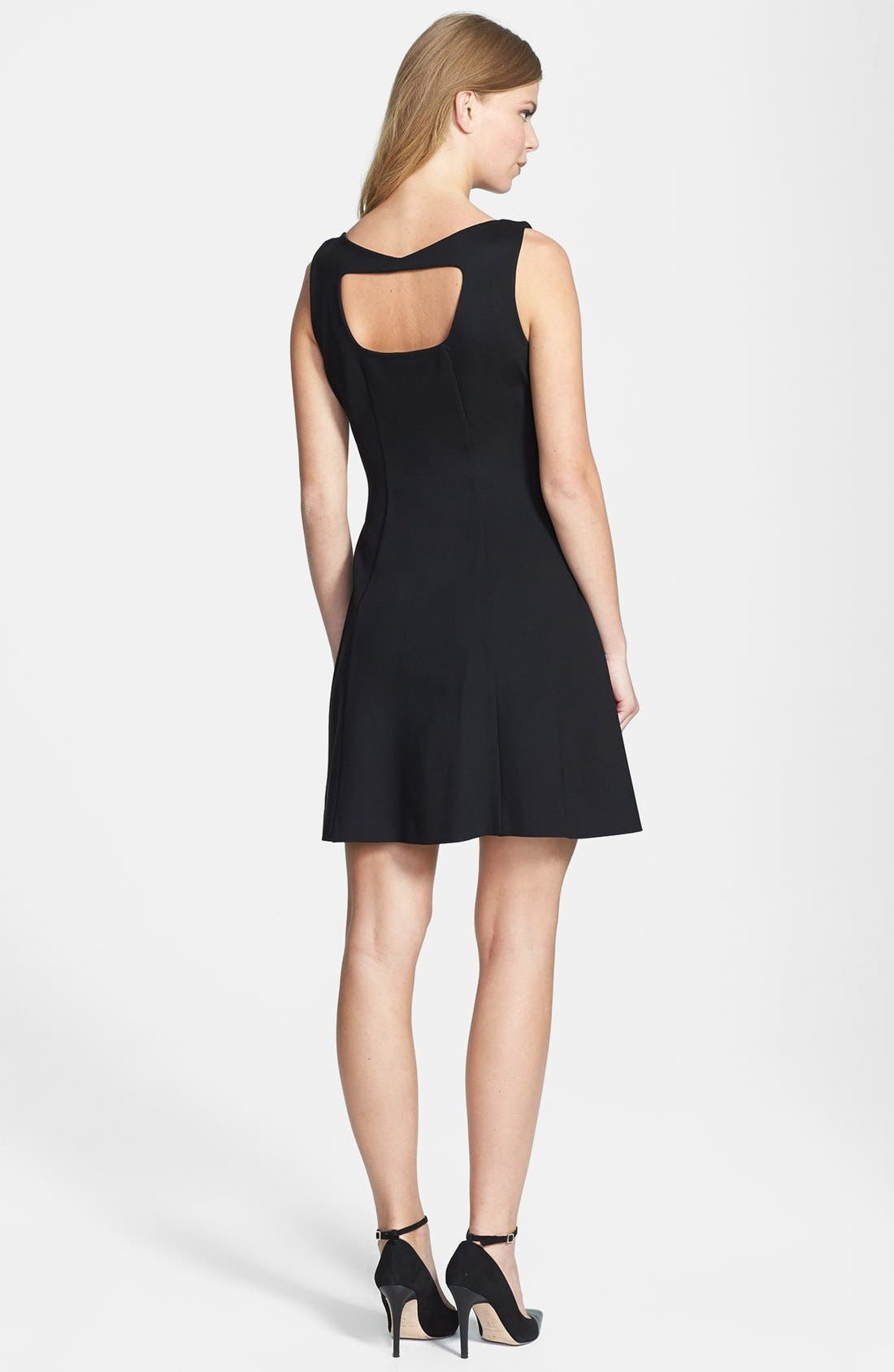 Alternate Image 2  - Rachel Roy Cutout Back Fit & Flare Dress