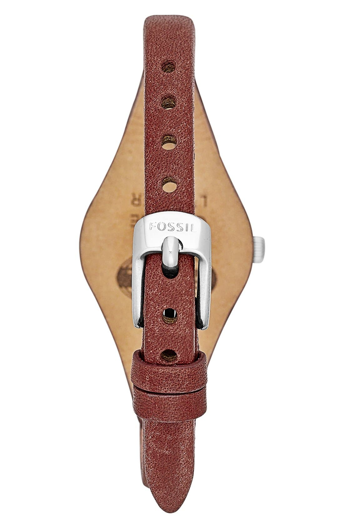 Alternate Image 2  - Fossil 'Small Georgia' Leather Strap Watch, 26mm