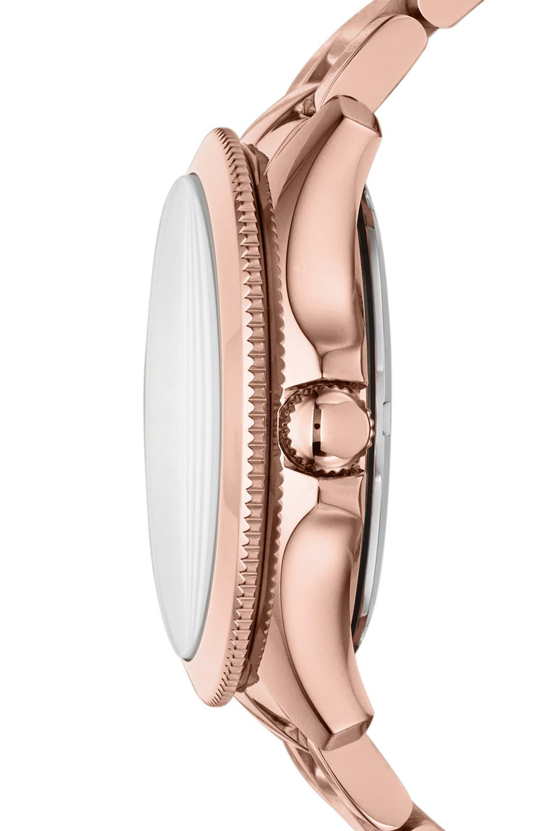 Alternate Image 3  - Fossil 'Cecile' Multifunction Bracelet Watch, 40mm