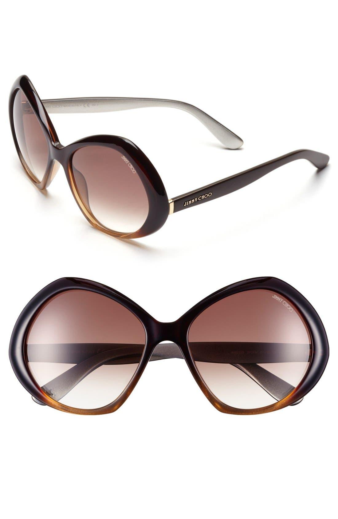 Alternate Image 1 Selected - Jimmy Choo 57mm Oversized Sunglasses