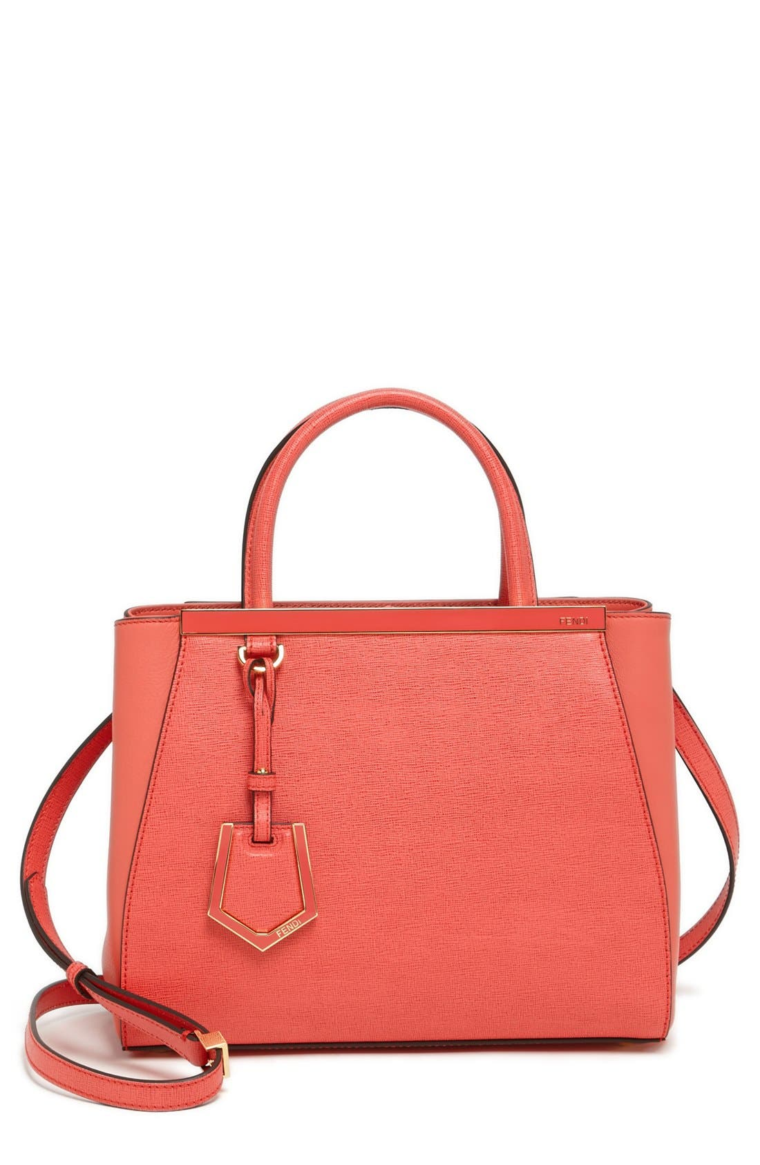 Alternate Image 1 Selected - Fendi 'Petite 2Jours Elite' Leather Shopper