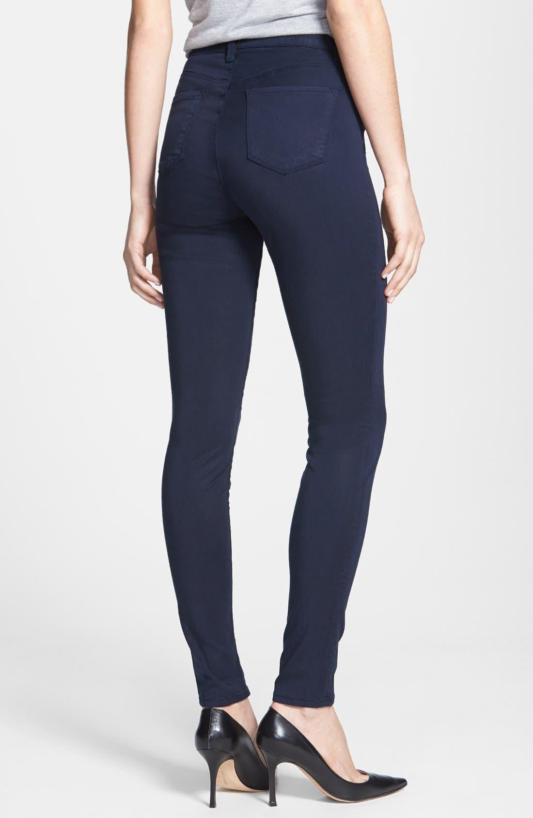 Alternate Image 2  - J Brand 'Maria 2311' High Rise Skinny Jeans (Marine)