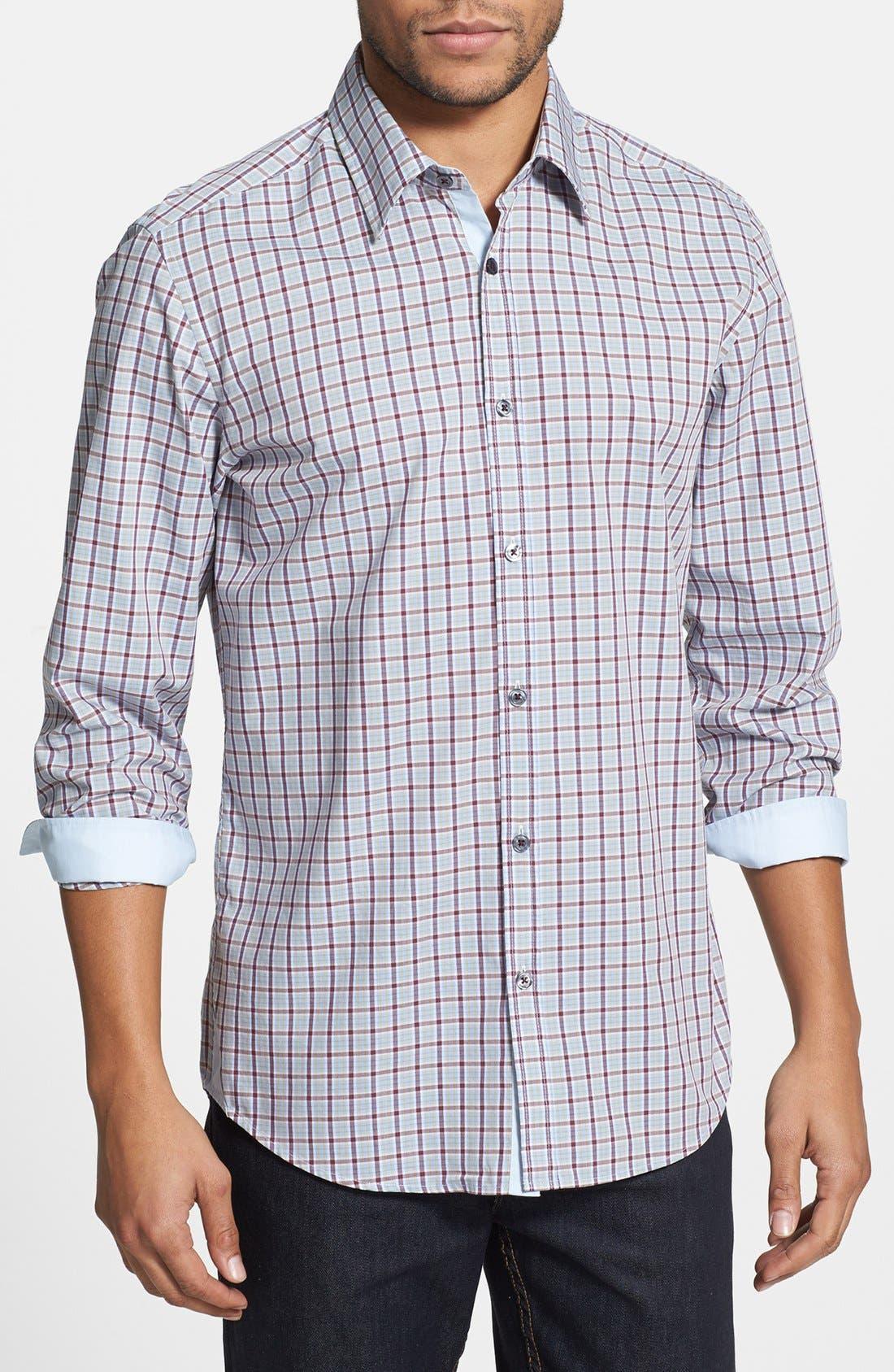 Alternate Image 1 Selected - BOSS HUGO BOSS 'Obert' Regular Fit Plaid Sport Shirt