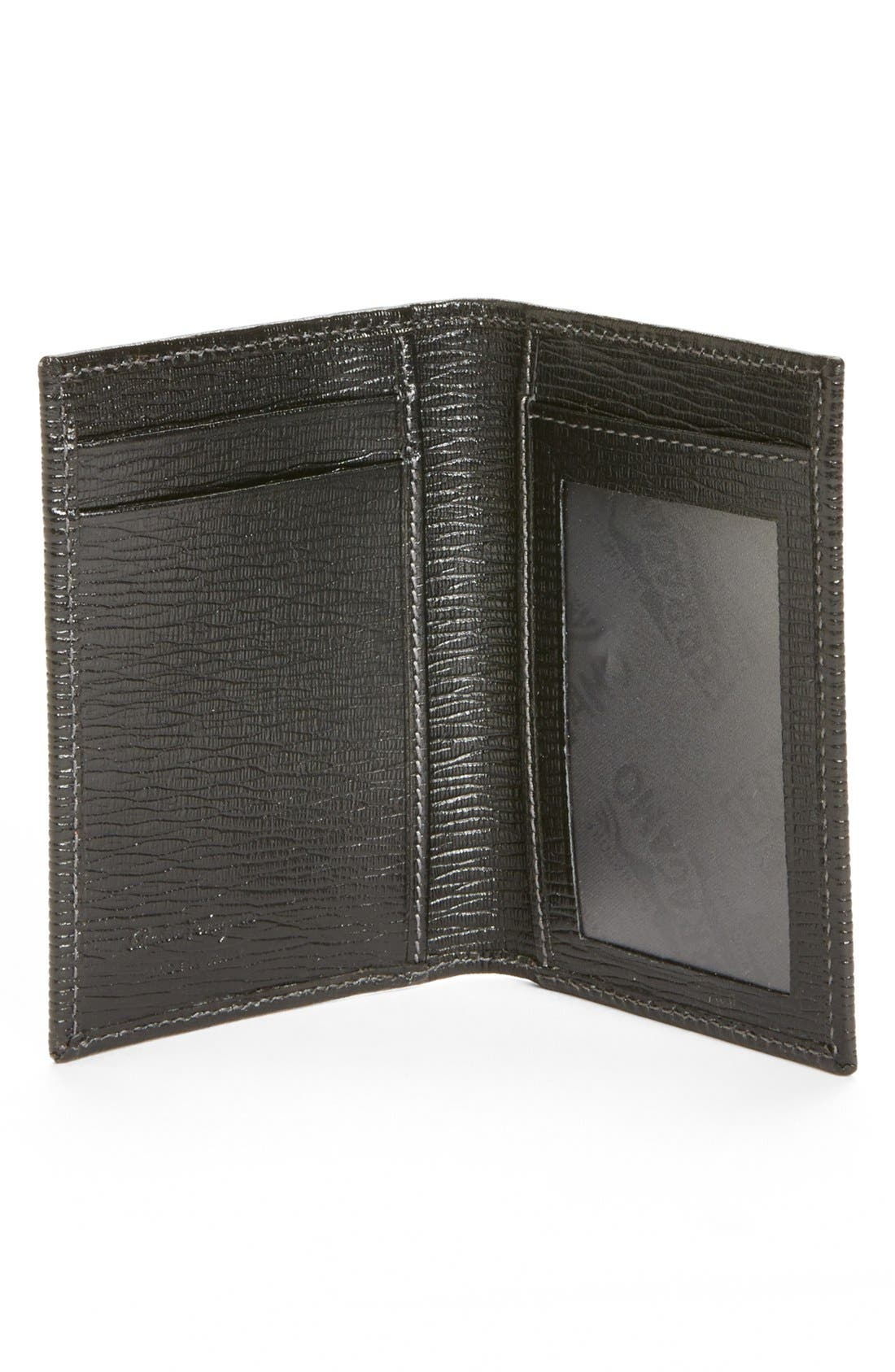 Alternate Image 2  - Salvatore Ferragamo Stamped Calf Card Wallet