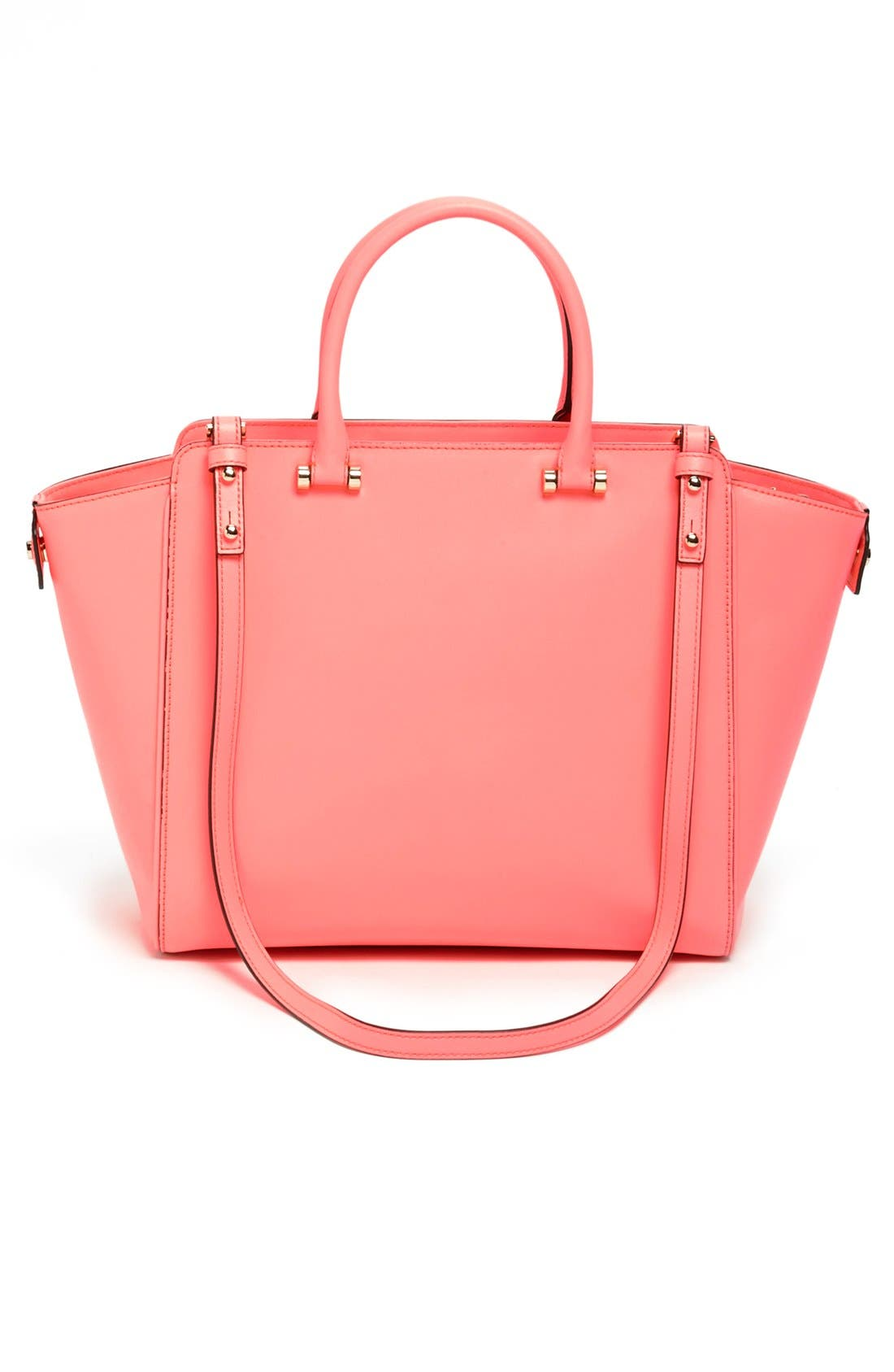Alternate Image 4  - Milly 'Colby' Metallic Leather Tote