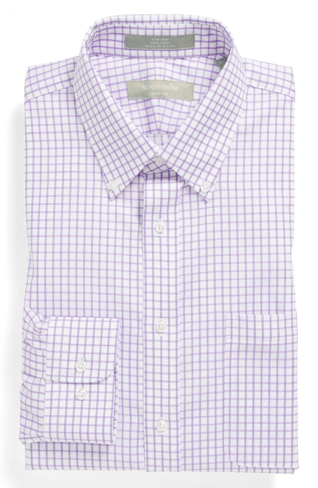 Main Image - Nordstrom Trim Fit Smartcare™ Check Dress Shirt