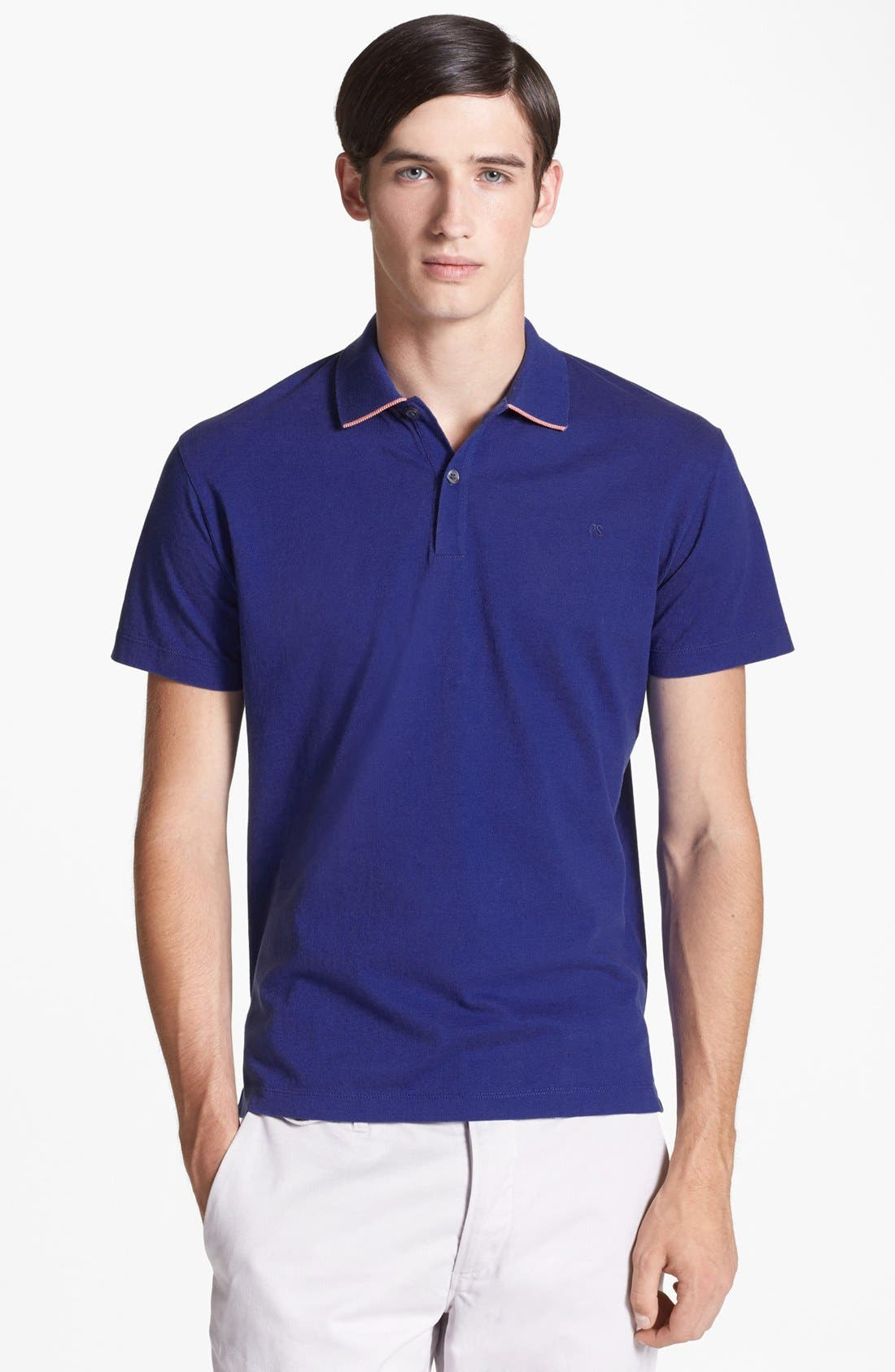 Alternate Image 1 Selected - PS Paul Smith Contrast Tipped Piqué Polo