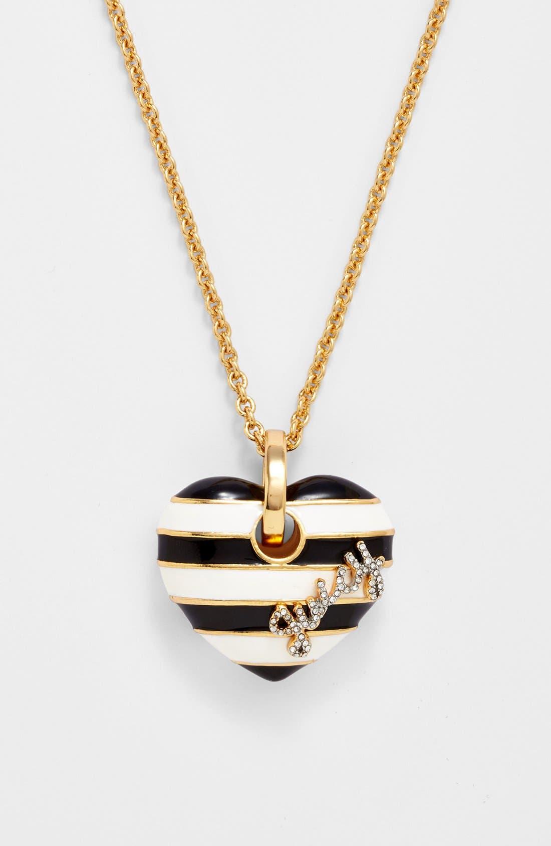 Alternate Image 2  - Juicy Couture 'Jewelry Box Treasures' Stripe Heart Pendant Necklace