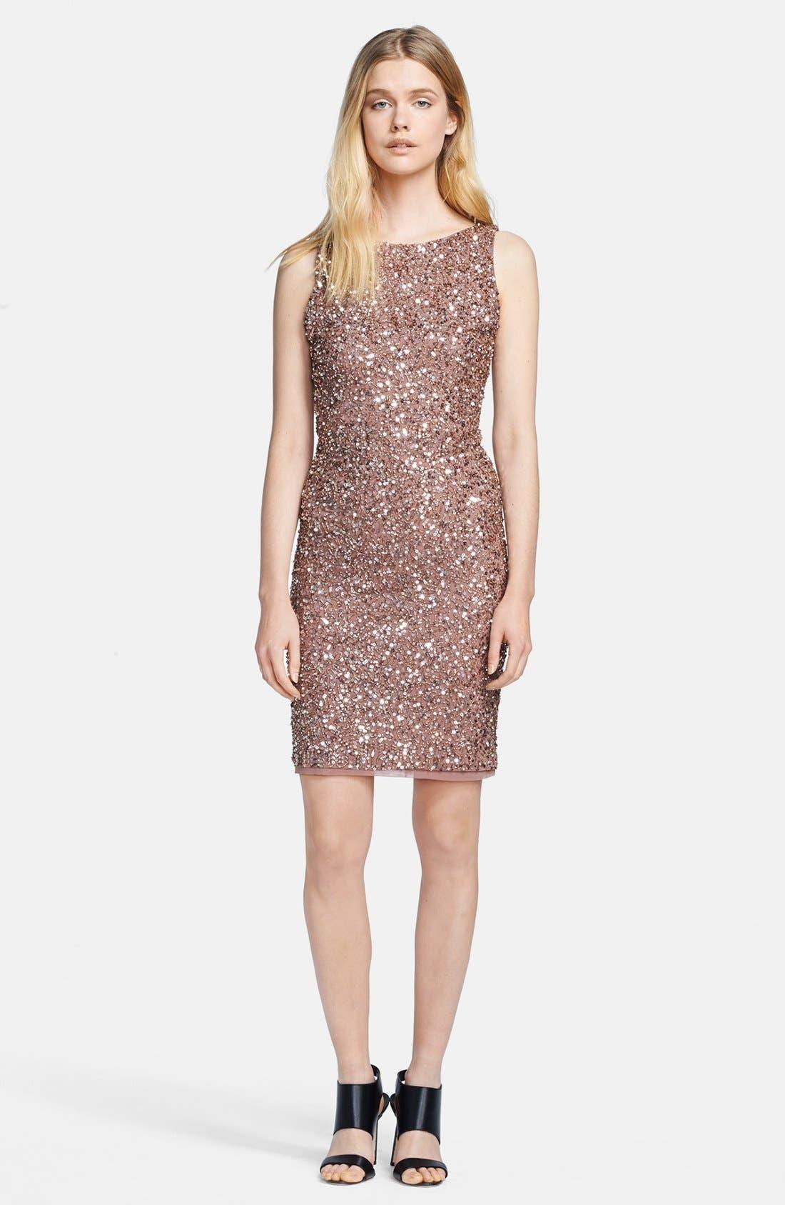 Main Image - Alice + Olivia 'Kimber' Sleeveless Bead Embellished Dress