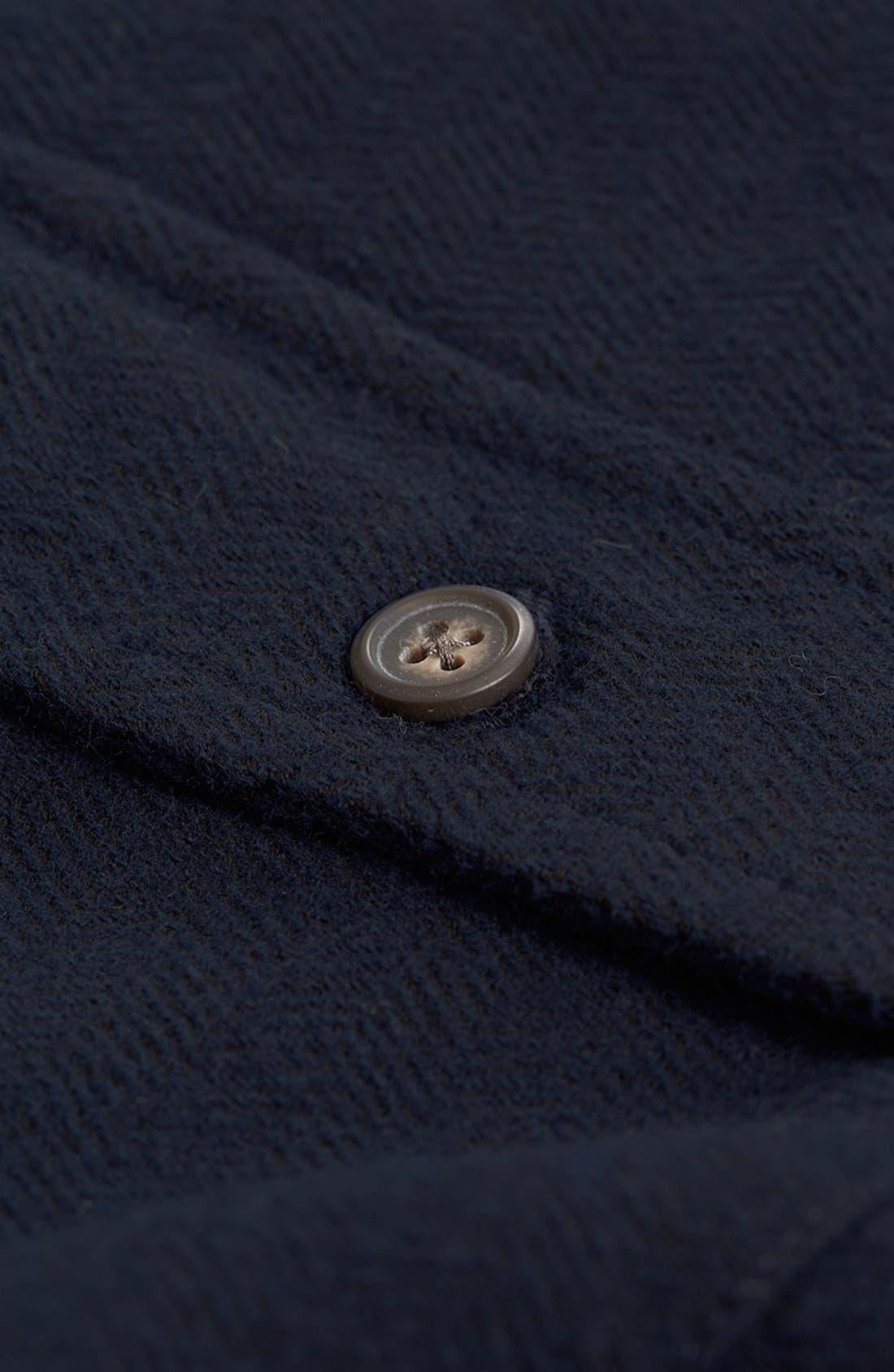 Alternate Image 3  - Topman Brushed Herringbone Shirt