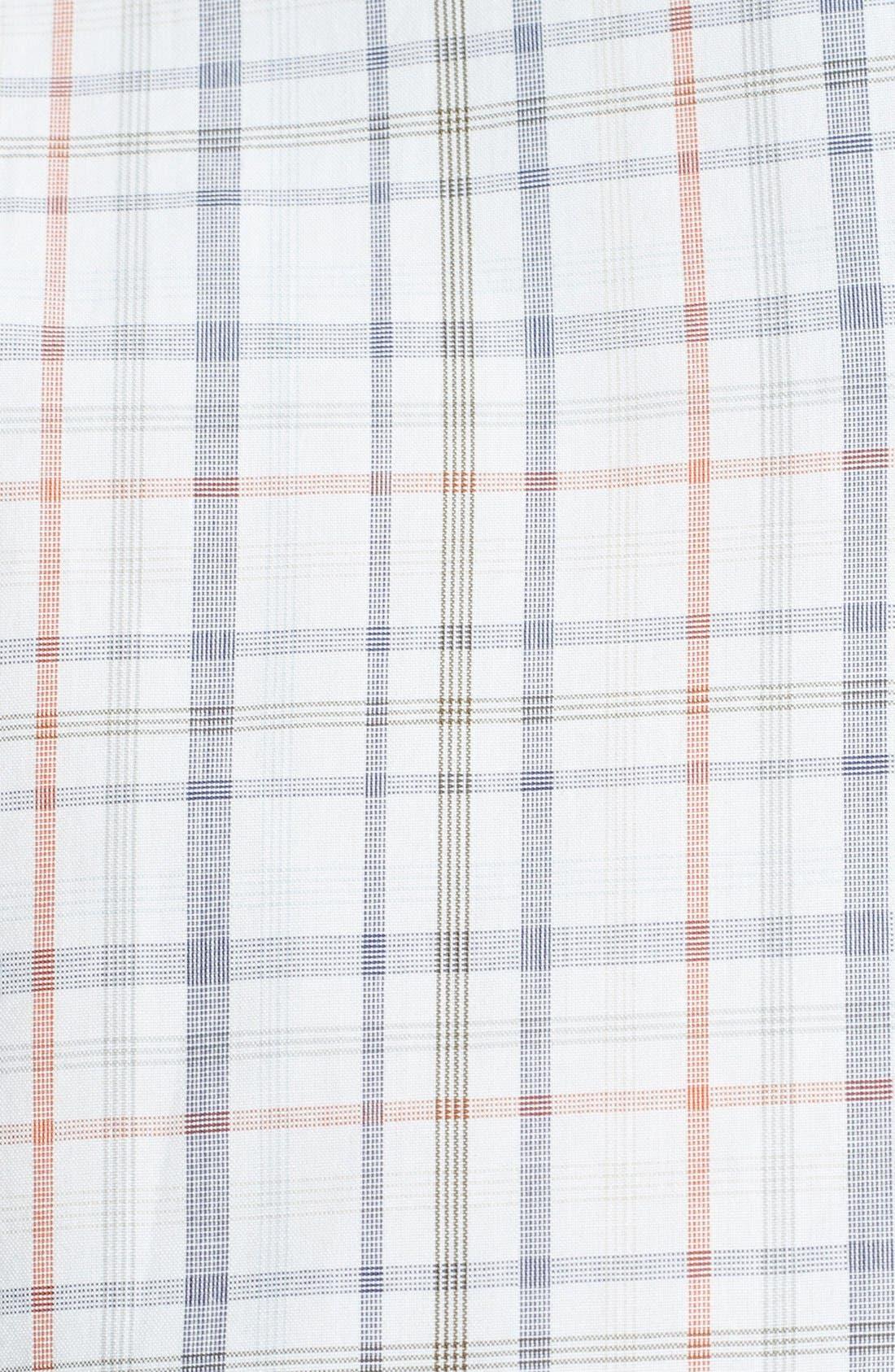 Alternate Image 3  - Salvatore Ferragamo Trim Fit Plaid Sport Shirt