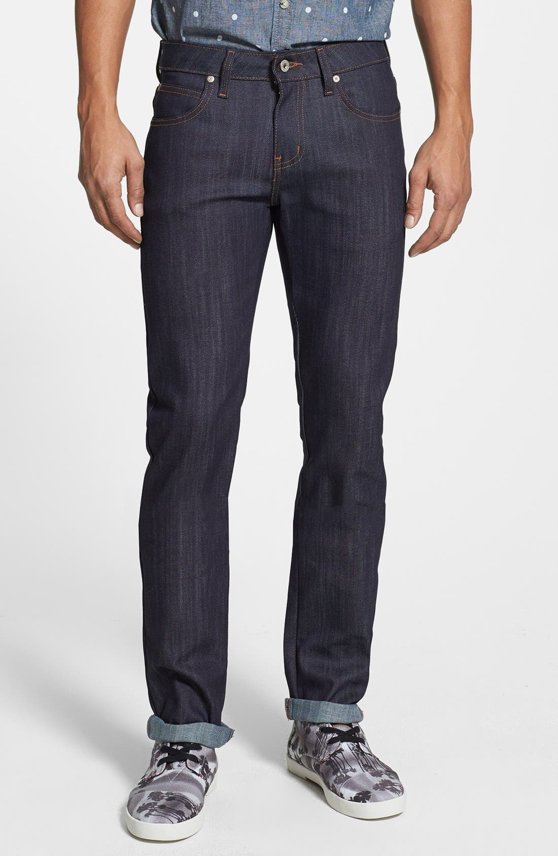 Alternate Image 1 Selected - Naked & Famous Denim 'Skinny Guy' Skinny Fit Jeans (Indigo Power Stretch)