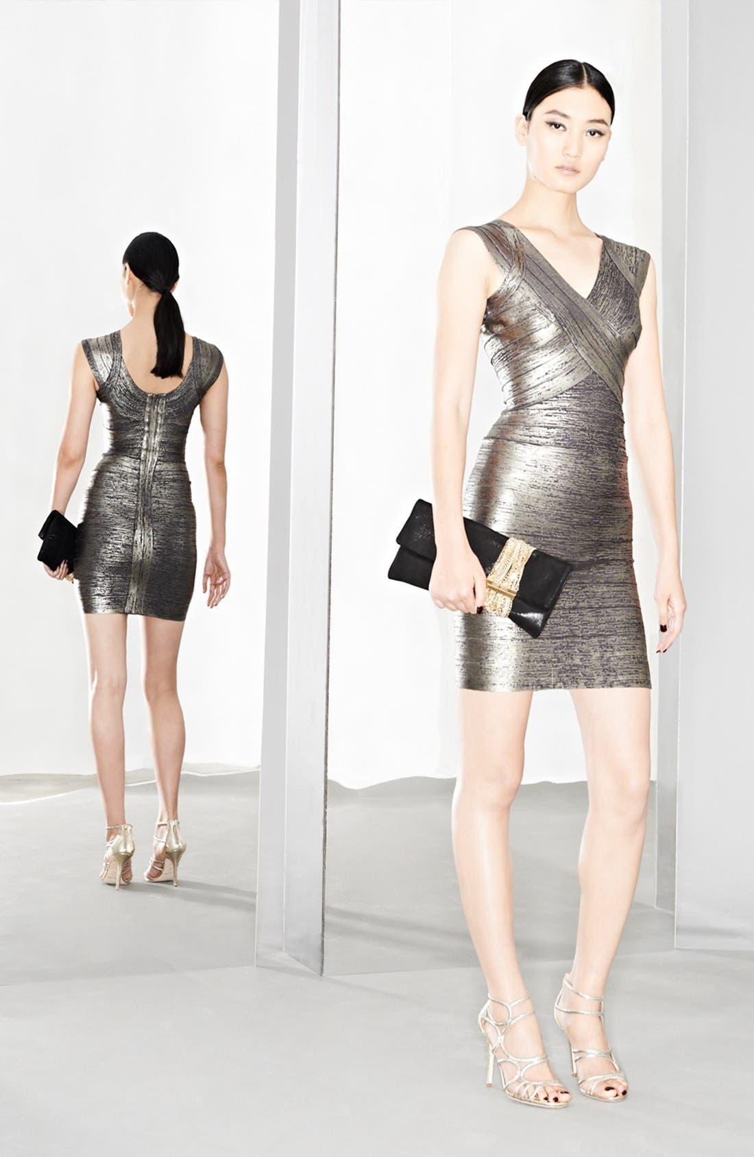 Alternate Image 1 Selected - Herve Leger Dress & Accessories