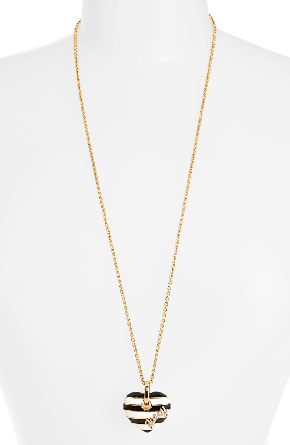 Main Image - Juicy Couture 'Jewelry Box Treasures' Stripe Heart Pendant Necklace