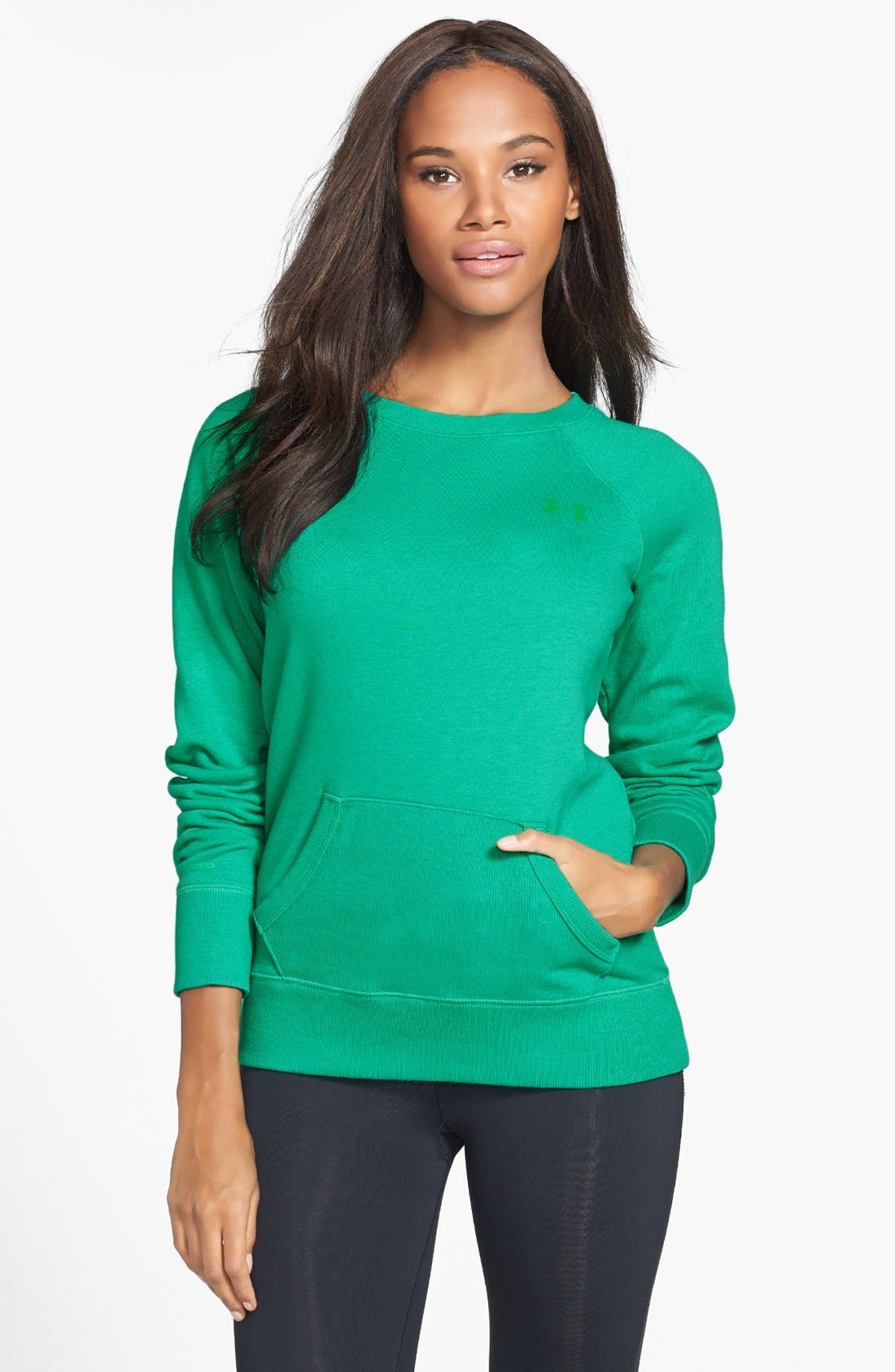 Alternate Image 1 Selected - Under Armour 'Legacy' Charged Cotton® Crewneck Top