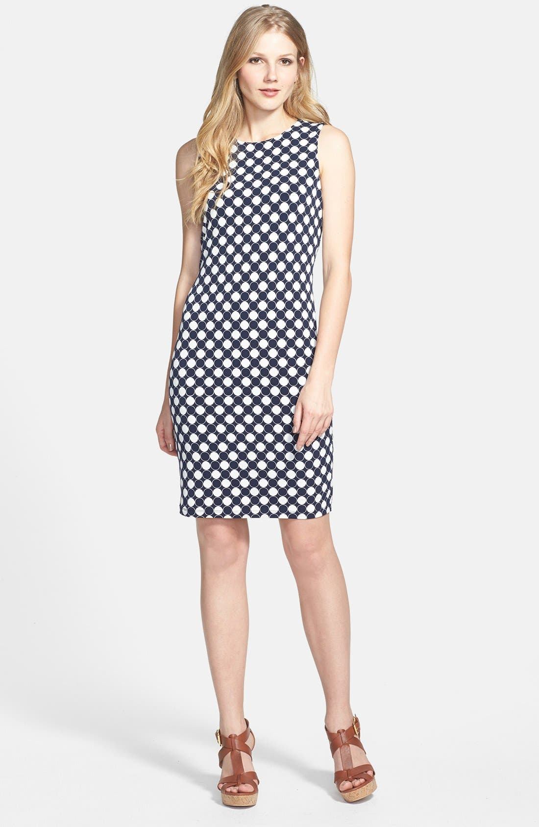 Alternate Image 1 Selected - Vince Camuto 'Retro Dots' Dress