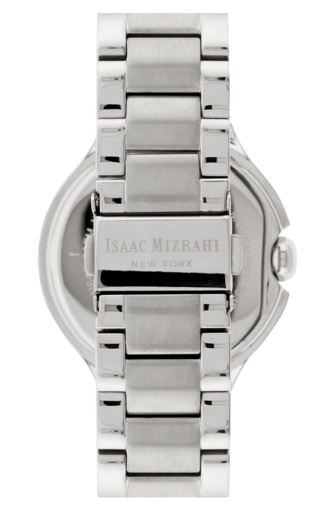 Alternate Image 2  - Isaac Mizrahi New York Round Roman Numeral Bracelet Watch, 38mm