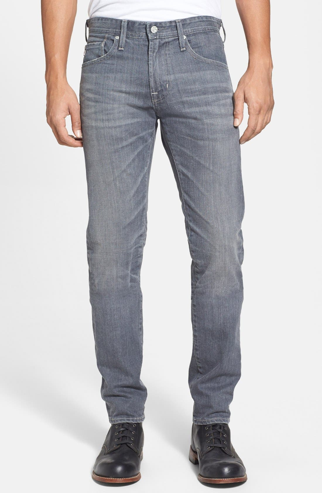 Alternate Image 1 Selected - AG 'Dylan' Skinny Fit Jeans (9 Years Grey)