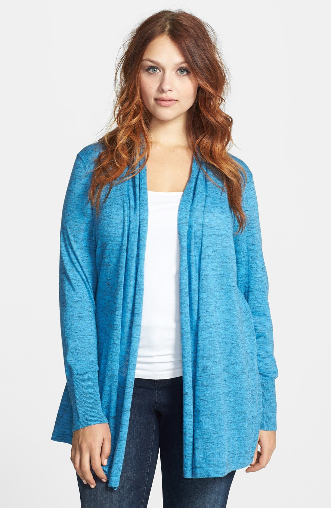 Alternate Image 1 Selected - Sejour Wool Cardigan (Plus Size)