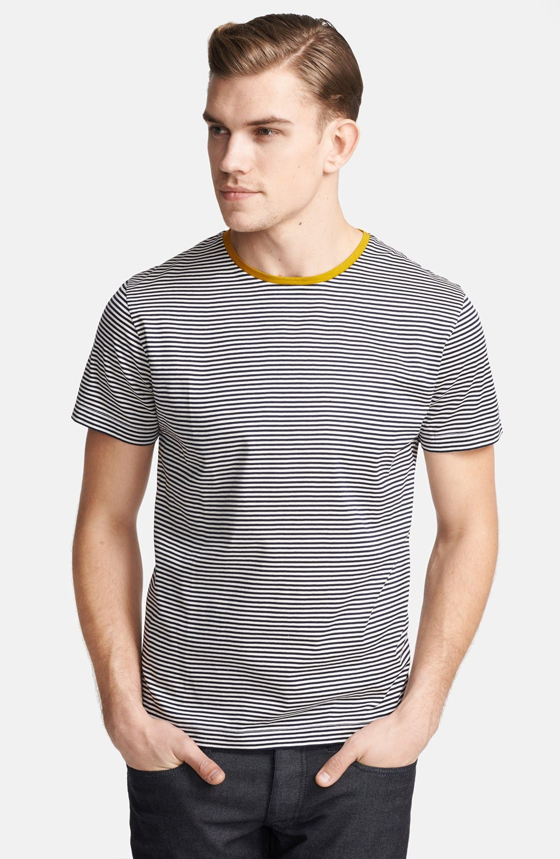 Alternate Image 1 Selected - PS Paul Smith Stripe Crewneck T-Shirt