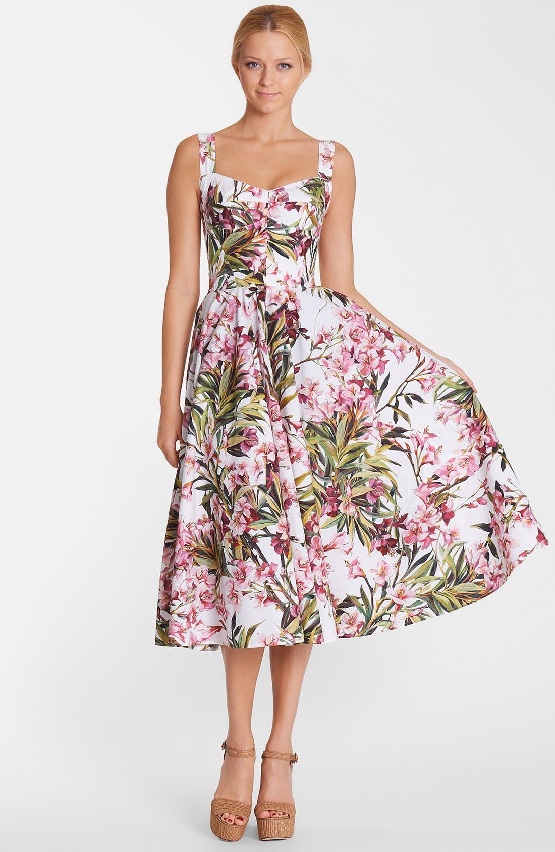 Alternate Image 1 Selected - Dolce&Gabbana Print Fit & Flare Dress